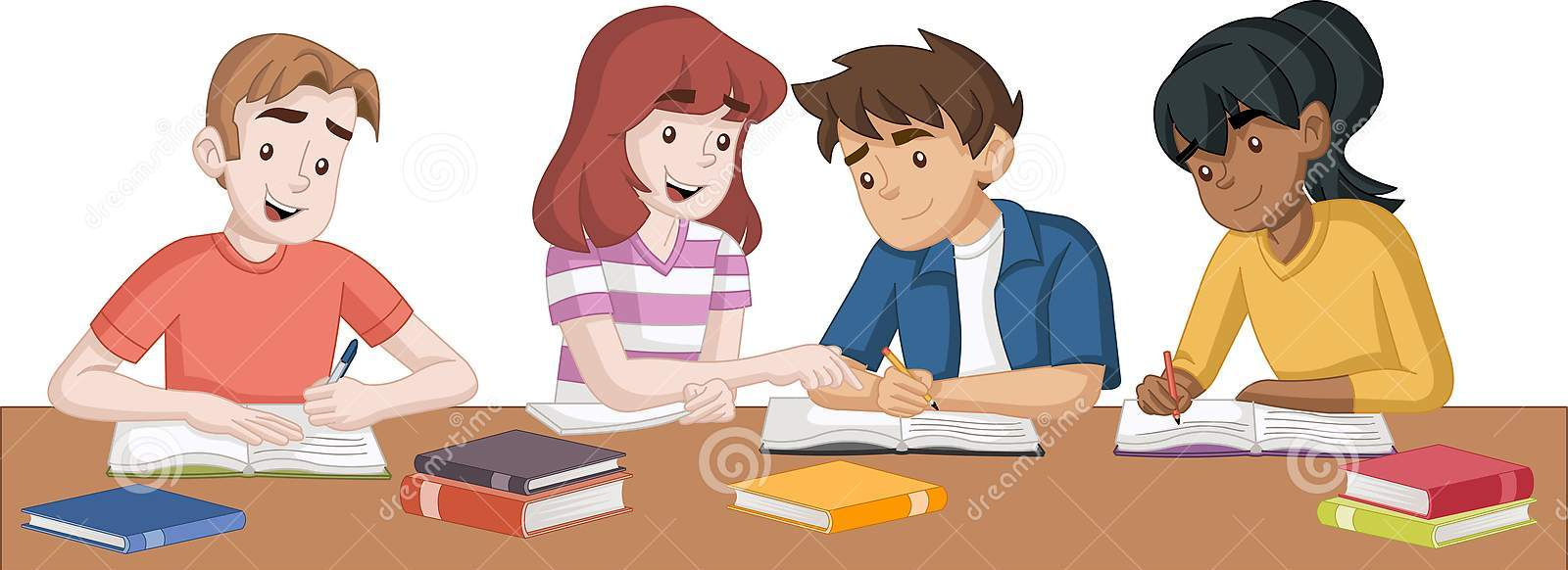 cartoon-teenager-students-books-kids-studying-134763679